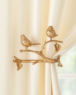 Feathered Friends Curtain Holdback, Set of Two