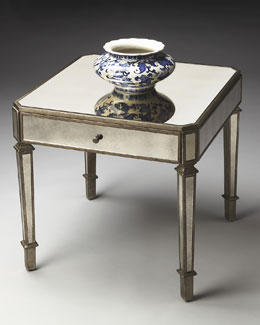 Amber Mirrored Accent Table