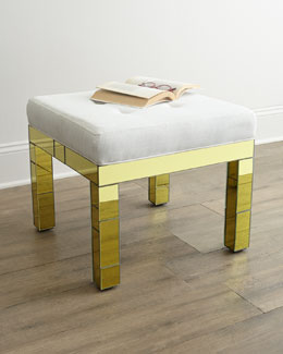 Belinda Golden Mirrored Bench