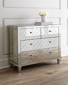 Troy Chevron Mirrored Chest