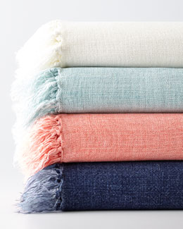 Laundered Linen Throw, 50