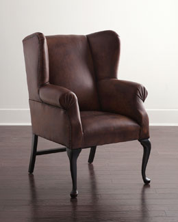 Marco Leather Wing Chair
