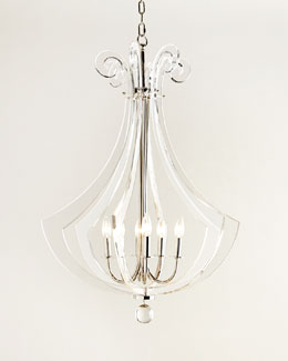 Acrylic Silhouette Six-Light Chandelier