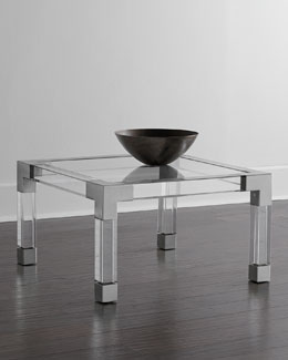 Jacques Lucite & Nickel Coffee Table