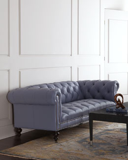 Lennon Tufted Leather Sofa