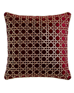 Trellis Pattern Pillow, 20
