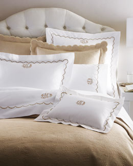 "Matouk ""Scallops"" Bed Linens"
