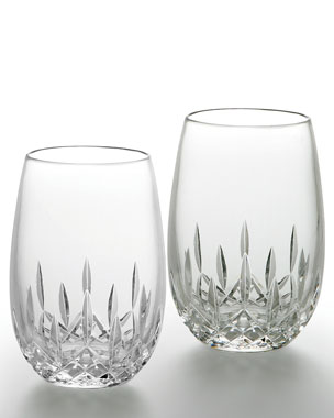 "Waterford ""Lismore Nouveau"" Stemless Wine Glasses"