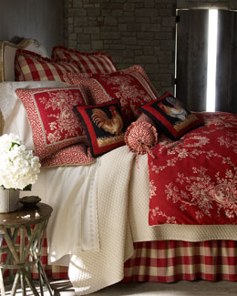 "Pacific Coast Home Furnishings ""French Country"" Bedding & Houndstooth Quilt Set"