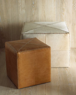 Leather & Hide Ottomans