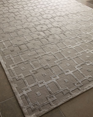 Exquisite Rugs Silver Blocks Rug
