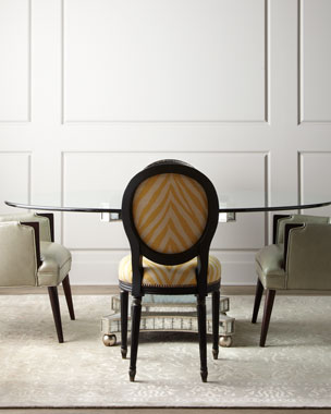 John-Richard Collection Gretna Dining Chairs & Erlinda Dining Table