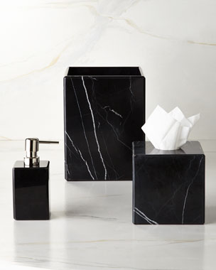 Waterworks Studio Luna Black Marble Vanity Accessories