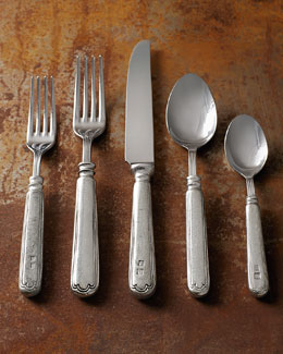ValPeltro 20-Piece Filet Pewter Flatware