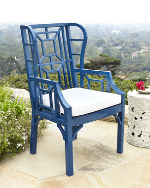 Chinoiserie Outdoor Wing Chair