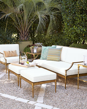 Sophia Outdoor Sofa, Chair, & Ottoman