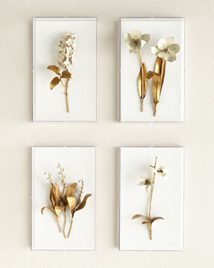 Tommy Mitchell Original Gilded Flower Studies in Acrylic