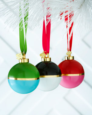 kate spade new york Colorblock Ball Christmas Ornaments