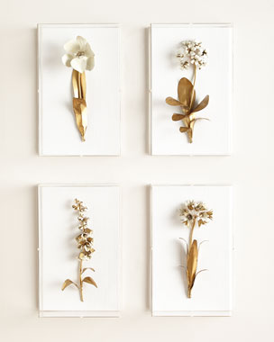 Tommy Mitchell Original Gilded Flower Studies