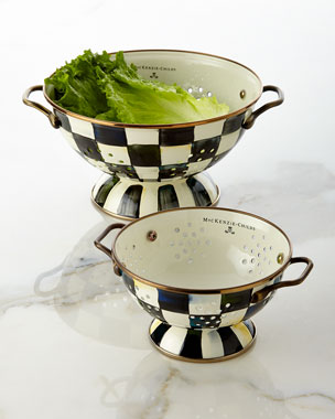 MacKenzie-Childs Courtly Check Colanders
