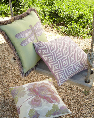 Elaine Smith English Garden Outdoor Pillows