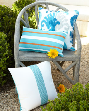 Katharine Webster Greco-Roman Indoor/Outdoor Pillows
