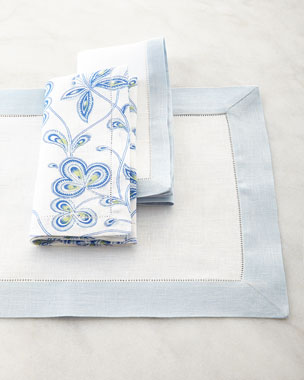 SFERRA Filetto Placemats and Filetto & Calypso Napkins