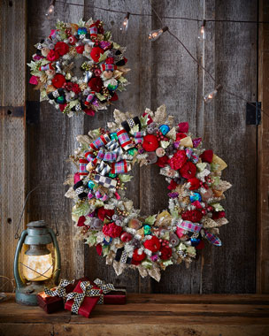MacKenzie-Childs Holiday Frost Christmas Wreaths