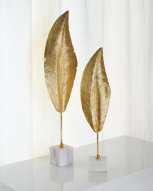 John-Richard Collection Golden Leaf Sculptures