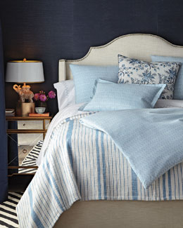 Diamond-Pattern Chambray Bedding