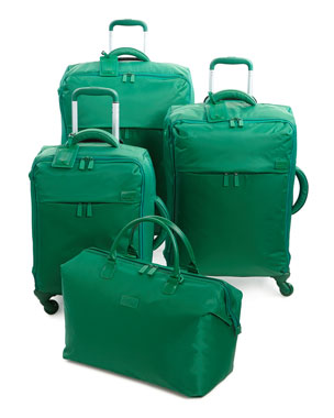 Lipault Green Nylon Luggage