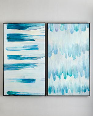 "RFA Fine Art ""Wind"" & ""Rain"" Acrylic Paintings"