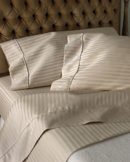 SFERRA 600-Thread-Count Pima Stripe Sheet Sets