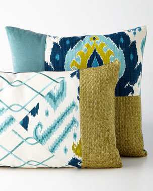 Eastern Accents Blue Patch Pillows