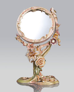 Floral Standing Mirror