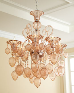 Blush Six-Light Chandelier