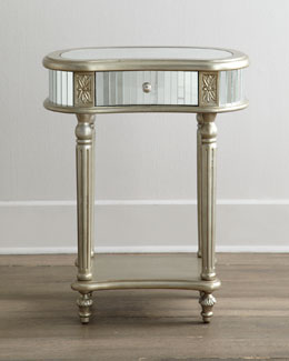 """Melrose"" Mirrored Side Table"