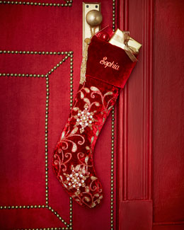 Sudha Pennathur Velvet Christmas Stocking