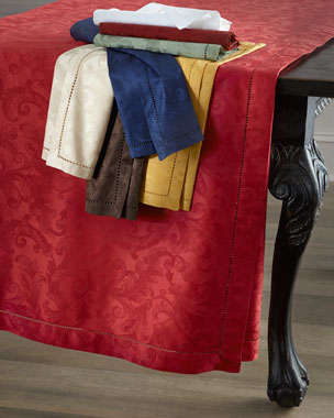 SFERRA Plume Jacquard Tablecloths, Runners, Placemats, & Napkins