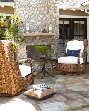 Royal Plantation Outdoor Chair & Ottoman