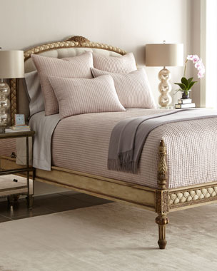 Annie Selke Luxe Seta Quilted Silk Bedding
