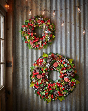 MacKenzie-Childs Courtly Christmas Wreaths