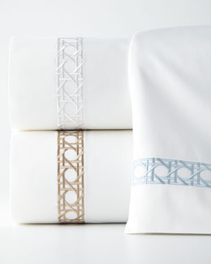 SFERRA Cane-Embroidered Bedding