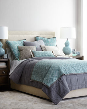 Pom Pom at Home Antwerp Bedding, Trellis Bed Scarf, & Decorative Pillows