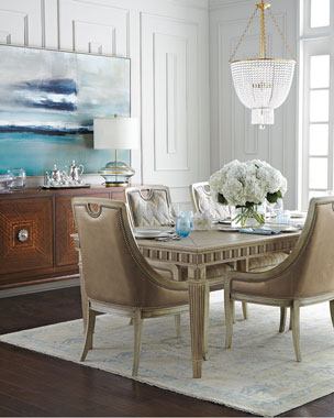 Massoud Delilah Side Chair, Belle Side Chair, & Estes Park Dining Table