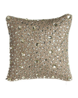 "Sivaana Scattered Mirrors Pillow, 12""Sq."
