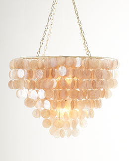 Rosalea Two-Light Capiz Shell Chandelier
