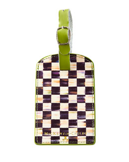 Courtly Check Luggage Tag