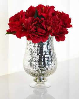 Shades of Red Faux Floral