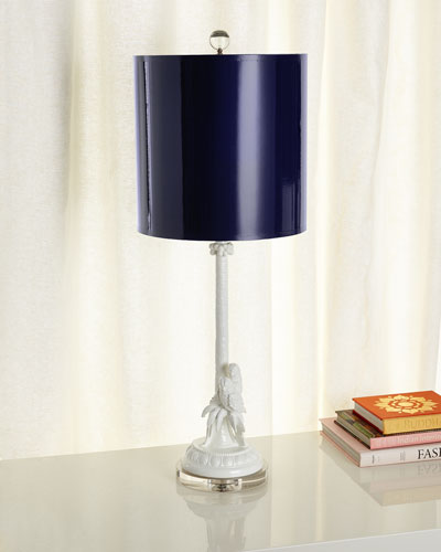Parrot & Palm Table Lamp